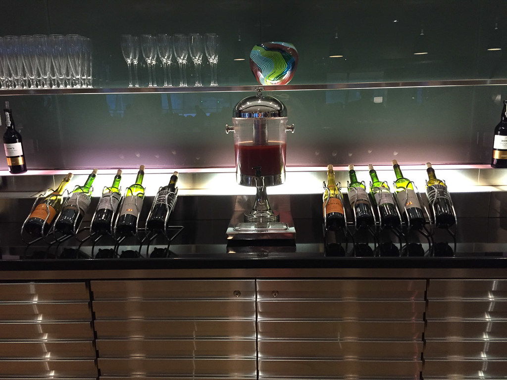 Alcohol at British Airways Business Class Lounge at JFK