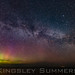 The Aurora with a sprawling Milkway