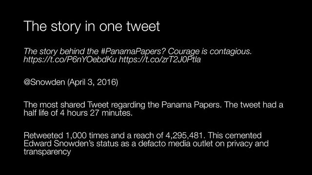 The story in one tweet