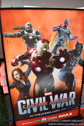 "Captain America: Civil War movie ""Choose Your Side"" exhibit in SM City North EDSA"