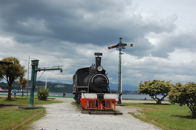 Old Train in Puerto Montt, Chile