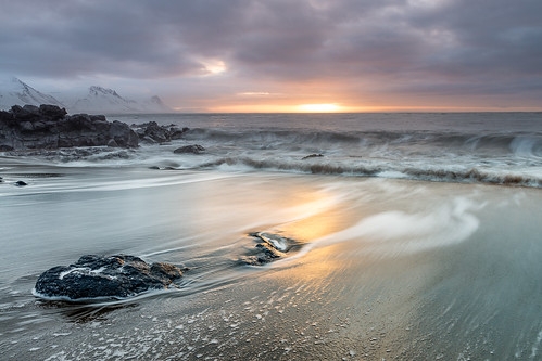 iceland beach sunrise winter travel budir dawn snaefellsnes sea seascapes landscapes waves northwest shore west is búðir