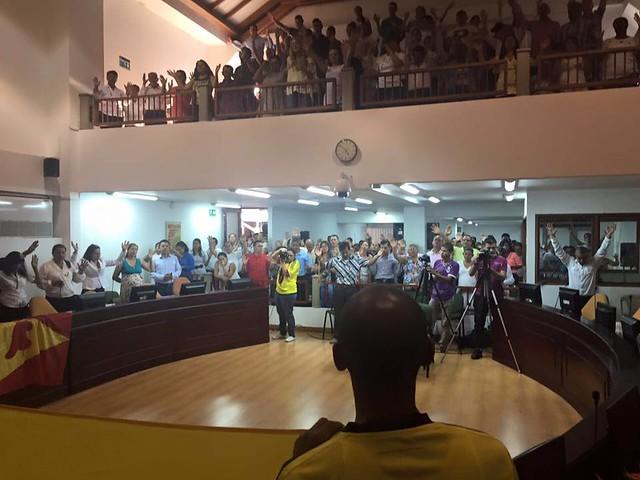 Rony Cháves en el Concejo de Pereira (16-04-16)