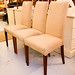 Gold fabric chair large quantity in stock