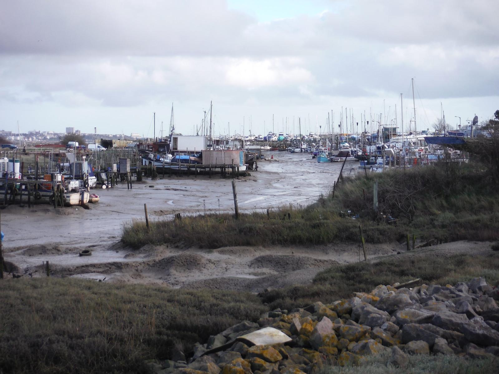 Smallgains Boatyard, Canvey Island SWC Walk 258 Benfleet Circular (via Canvey Island)