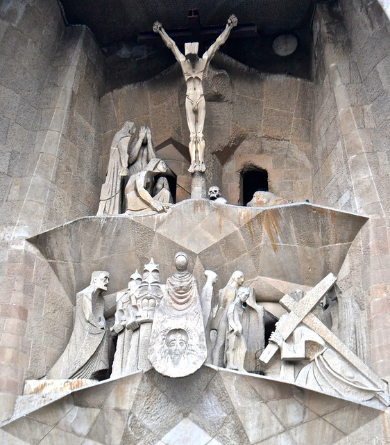 Jesus on a cross - La Sagrada Familia Barcelona