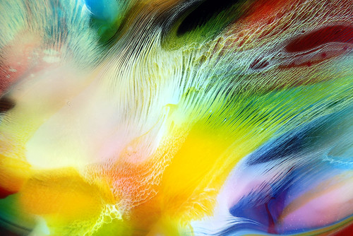 Colourful Fluid Painting Detail