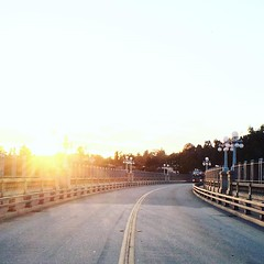 I took this photo when I was in Los Angeles. It's a picture of a bridge, a sunset, and a bus coming around the corner. This caption is very direct. Just like the moment I took this picture. Intentionality is how you build relationships. Use directions to