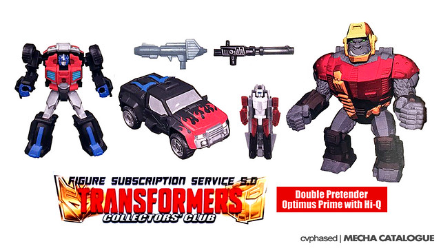 TFCC Figure Subscription Service 5.0 - Double Pretender Optimus Prime + Hi-Q