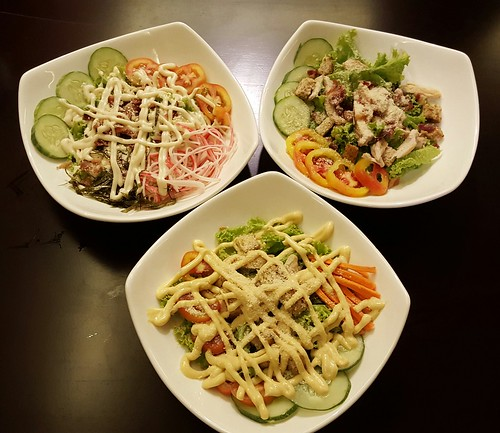 Healthy Salads : Greek Salad, Khani Salad, Caesar Salad | Dinner at Koffie Pauze In Its New Home at Roxas Avenue Dormitory - DavaoFoodTrips.com