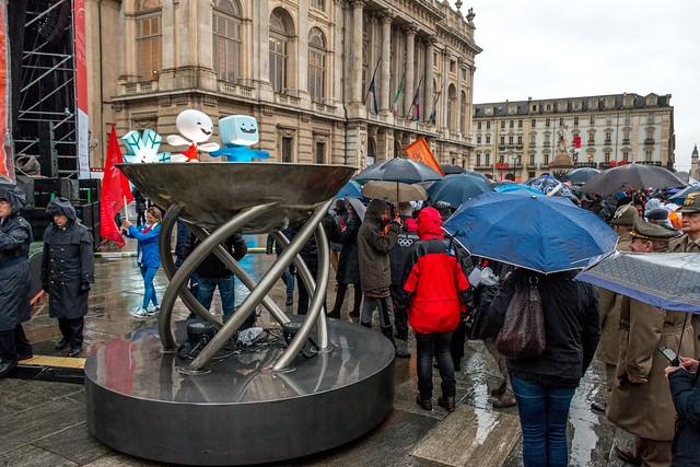 Rain didn't stop the people