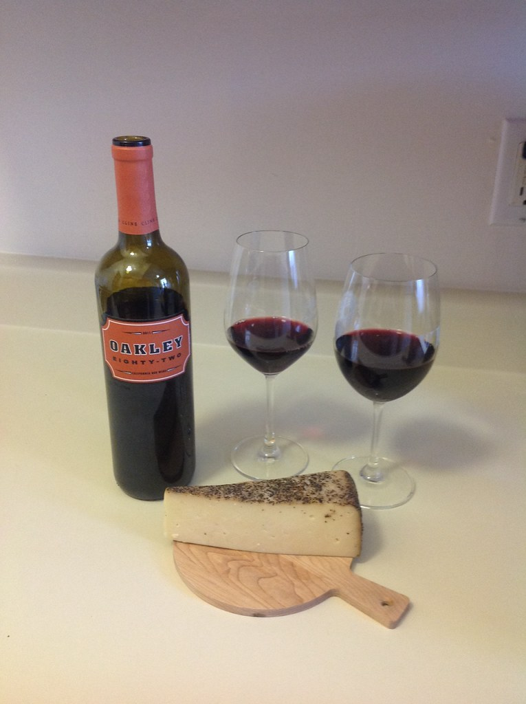 Cline Cellars Red Blend and Toscano Cheese with Black Pepper 3