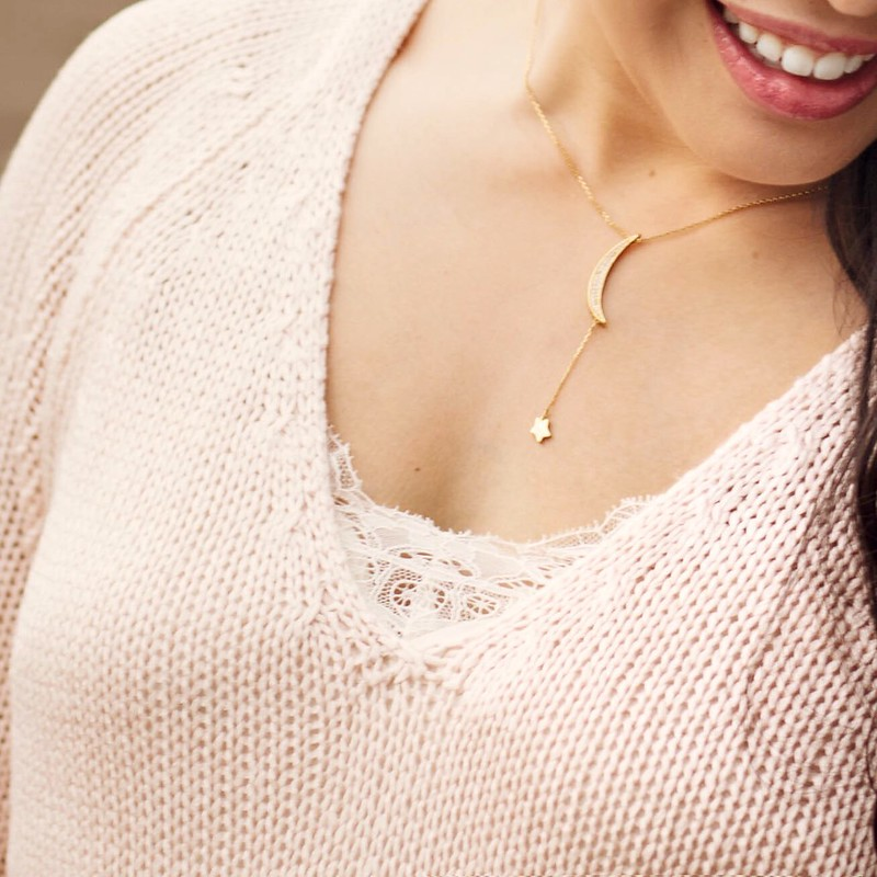 cute & little blog | petite fahion | blush pink knit sweater, lace camisole | spring outfit