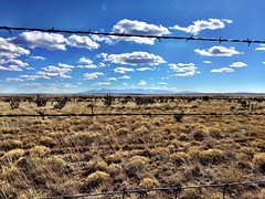"""""""Wide Open Freedom On The Other Side"""" Gazing at wide open freedom on the Central New Mexico Highlands through a barbed wire fence off NM 247. Openrange Freedom HighDesert Highlands Barbedwire Barbedwirefence Clouds And Sky Cloudscape Newmexicophotography"""