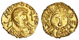 Gold Thrymsa of Eadbald of Kent