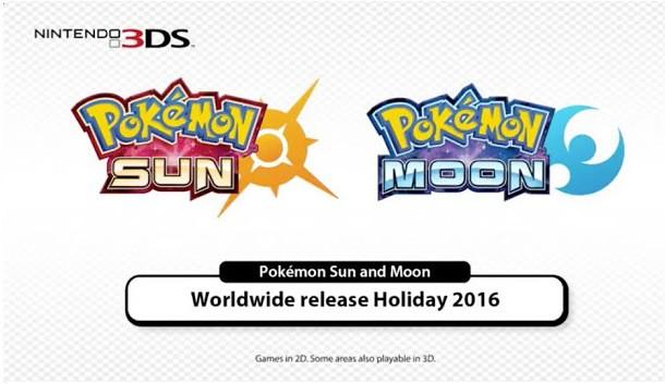 pokémon sun e pokémon moon são as novidade confirmadas para 2016