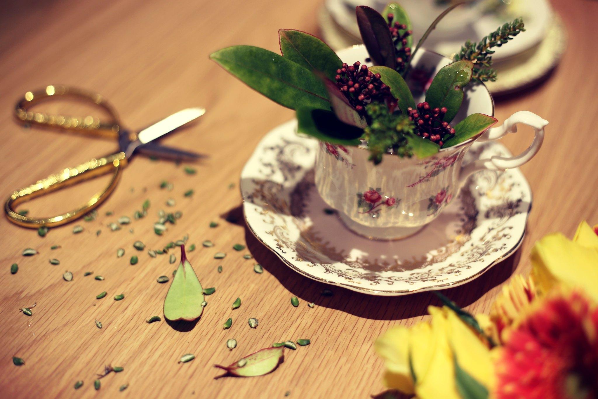 vintage flower diy