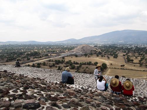 Teotihuacan: au sommet de la pyramide du Soleil