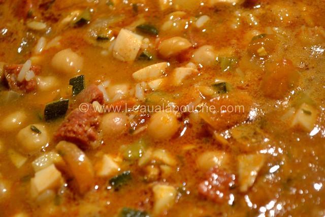 Potage de Pois Chiche au Chorizo Epicé © Ana Luthi Tous droits réservés 08