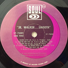 JR WALKER:SMOOTH(LABEL SIDE-B)
