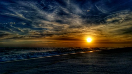 ocean sunset sun beach water clouds sand surf florida hdr cloudporn pensacola galaxys5