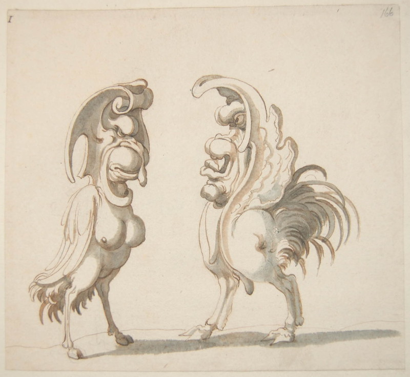Arent van Bolten - Monster 166, from collection of 425 drawings, 1588-1633
