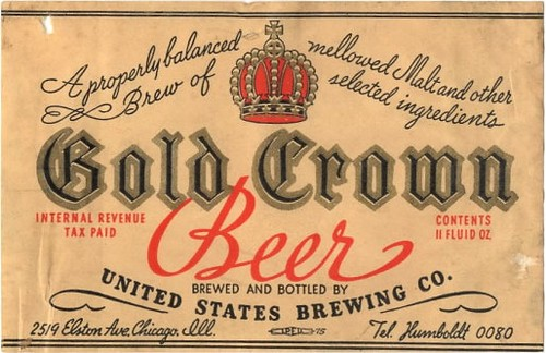 Gold-Crown-Pilsener-Beer-Labels-United-States-Brewing-Co