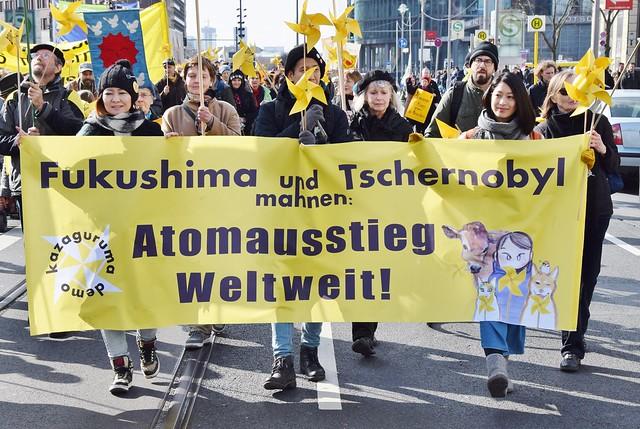 16.03.16: Anti-Atom-Demo zum 5. Jahrestag Fukushima und 30. Jahrestag Tschernobyl