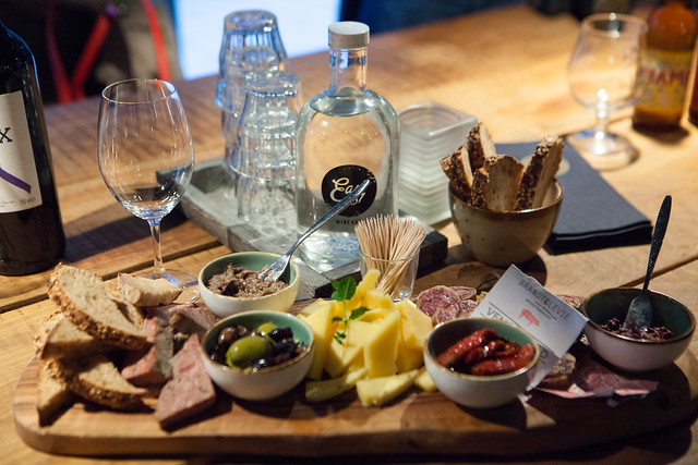 Local Amsterdam cheese and charcuterie to snack on