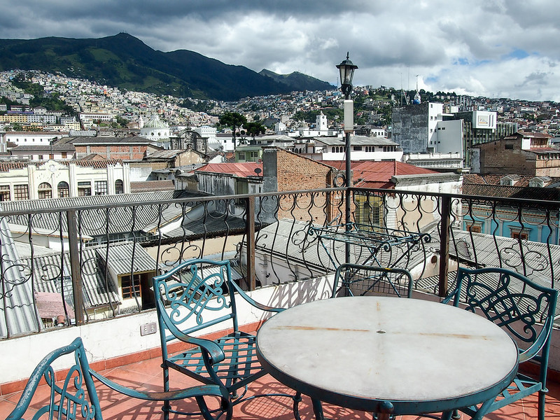 Rooftop in Quito, Ecuador