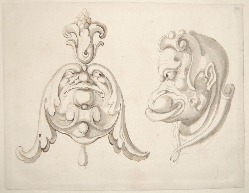 Arent van Bolten - Monster 98, from collection of 425 drawings, 1588-1633