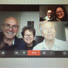 Mandatory family conference call with sweet nonna.