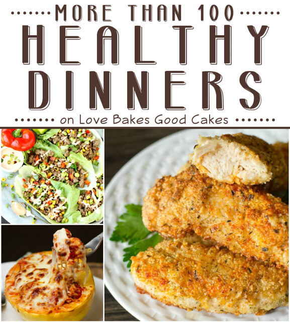 More than 100 Healthy Dinners collage.