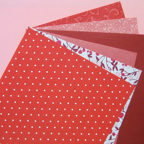 Papers for Valentine's Day Crafting