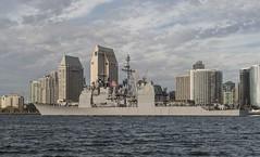 USS Mobile Bay (CG 53) departs Naval Base San Diego, Jan. 19. (U.S. Navy/MC2 Joe Bishop)
