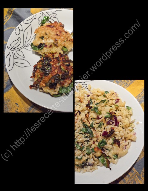 Galettes de riz aux blettes / Chard Rice Patties
