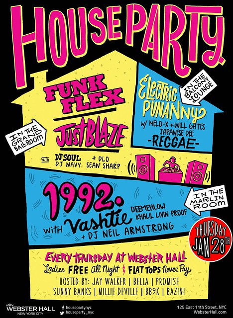 Jan 28th - Thurs - HOUSE PARTY - 1992 Party at Webster Hall
