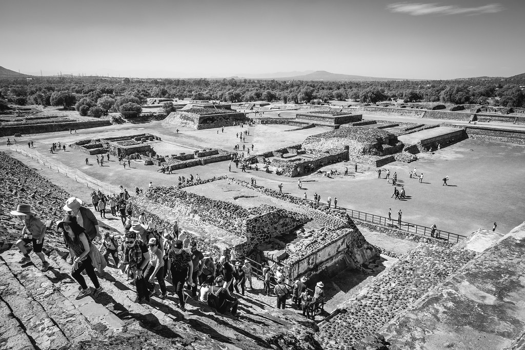 Pyramid of the Sun, Teotihuacan. December, 2015.