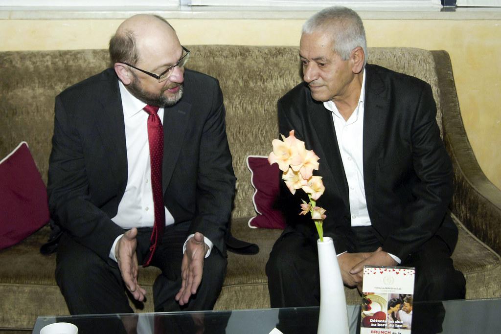 President Schulz meets Sec.Gen. Abassi