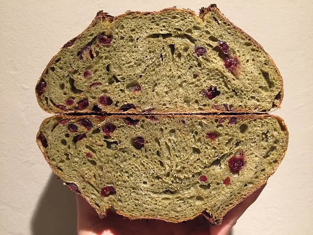Matcha Cranberry Bread
