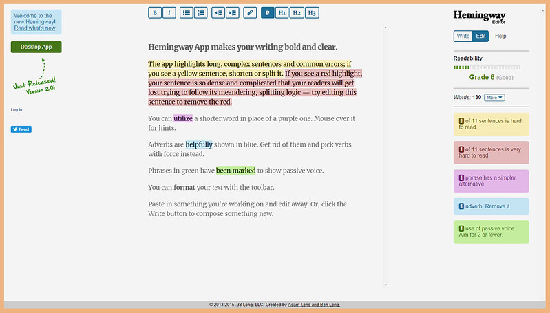 Blogging Tips | 7 Helpful Tools and Resources Websites You Didn't Know You Needed - Hemingway Editor