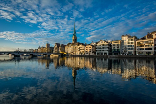 morning sunrise river schweiz switzerland zurich altstadt limmat zürich nikond7100