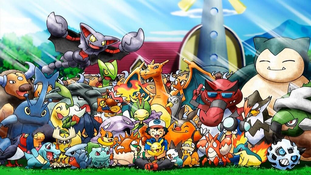 Comercial em comemoração aos 20 anos da franquia de Pokémon