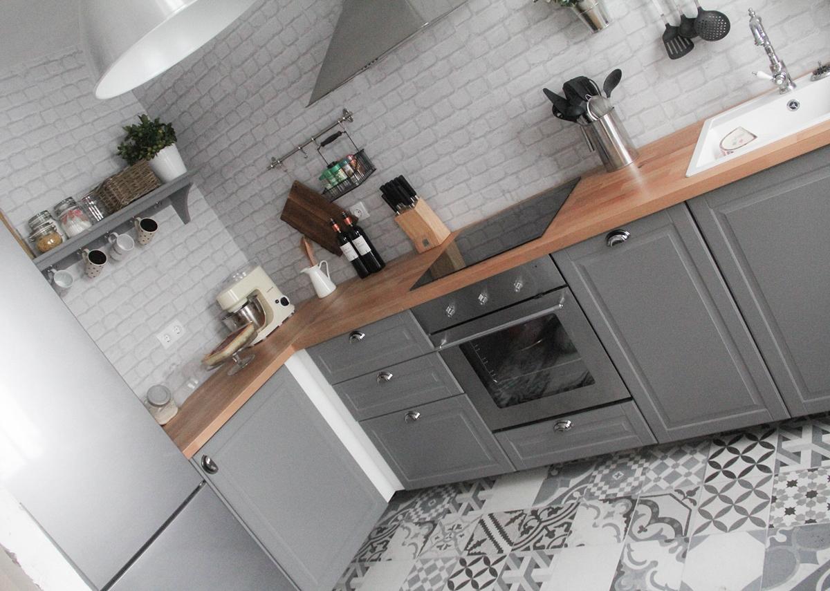 cocina retro gris bobdyn ikea decoracion