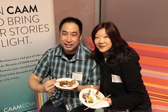 Volunteers Karl Leong and Helen Louie - Photograph by Leanne Koh