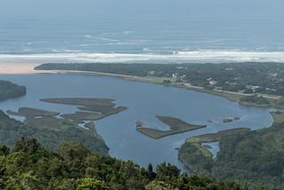 Blick vom Grootrivierpass auf Nature's Valley