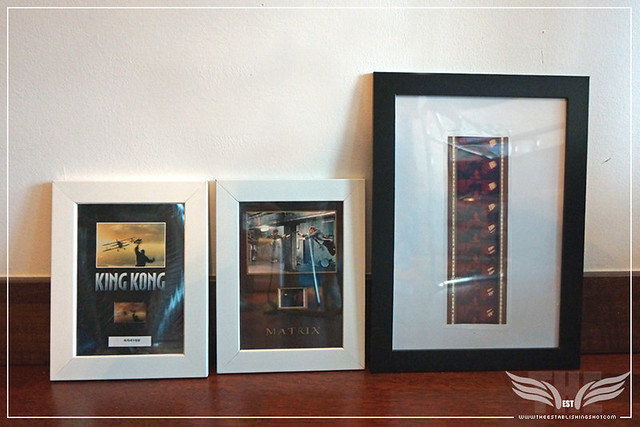 THE ESTABLISHING SHOT FRAMED 70MM AMADEUS FILM FRAMES SOUVENIR NEXT TO 35mm MATRIX & KING KONG FRAMES - LONDON - LONDON.JPG