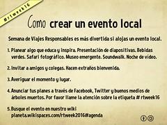 Como crear un evento local #rtweek16