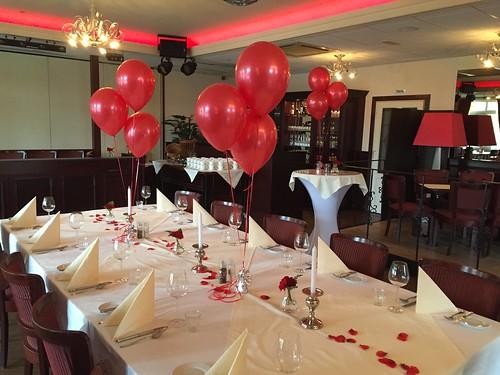 Tafeldecoratie 3ballonnen Valentijn Citta Romana Hellevoetsluis