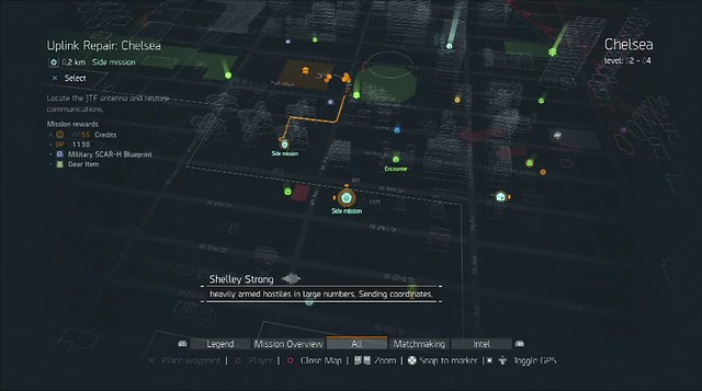The Division Side Mission Blueprints